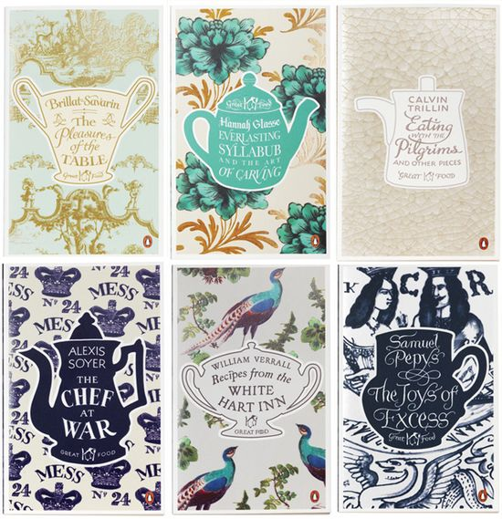 Penguin  cookery books-covers by Coralie Bickford Smith