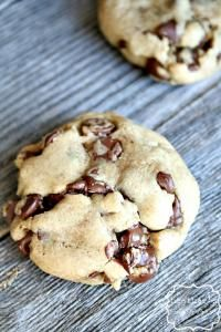 Double the chocolate Caramel Chocolate Chip Cookies on MyRecipeMagic.com are the perfect cookie with lots of chocolate and caramel. #cookies #caramel #chocolate
