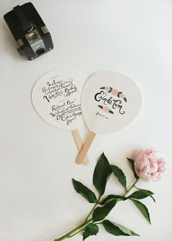 wedding program/fans