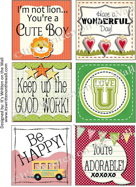 {Freebie} Valentines Day Lunchbox Notes Available Now