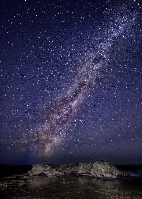 Stars over Forrester's Beach, Australia by Jay Daley