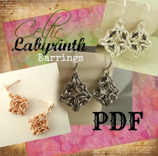 Celtic Labyrinth Chainmaille Jewelry PDF - Basic Instructions - E-Book - DIY Tutorial. $ 3.00, via Etsy.