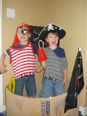 Have a Pirate Play Date - themed play dates are always a huge hit.    I kept a dress up box on hand for this very reason.