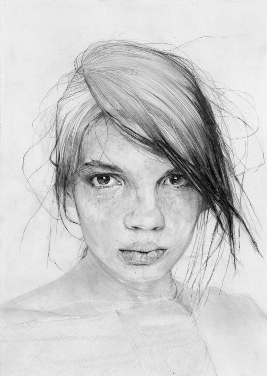 "Saatchi Online Artist: Adrien Patout; Pencil, 2013, Drawing ""Back Atelje"""
