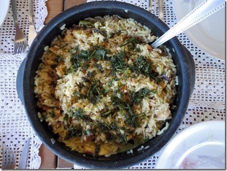 Arroz de polvo com brócolis. Uma delícia para o verão.  #recipe #cook #receita