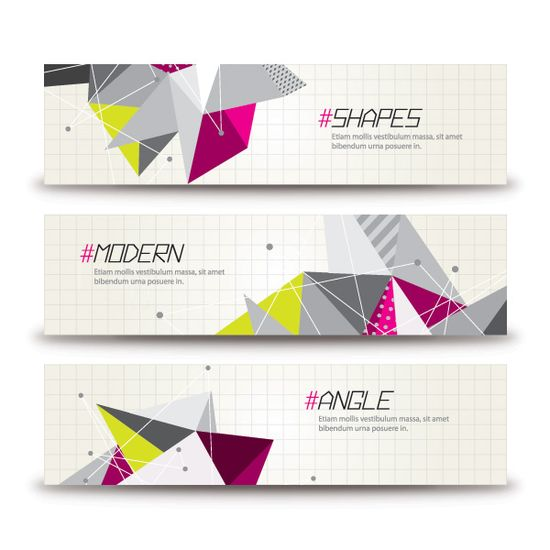 Triangular Banners Vector Graphic - DryIcons