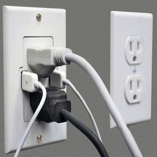 Wall outlet with built in USB ports, and automatically shuts off when charging is done.
