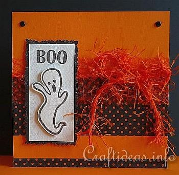 Halloween Card - Boo Ghost
