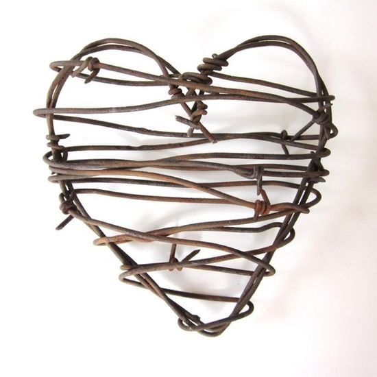 Beautiful Upcycled Barbed Wire Creations