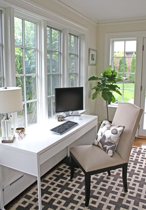 Sun Room becomes Pretty Home Office