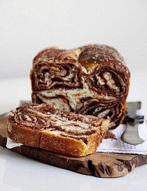sweet walnut chOcOlate bread  www.passionateabo...