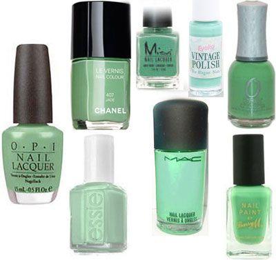 Green nail polish color choices
