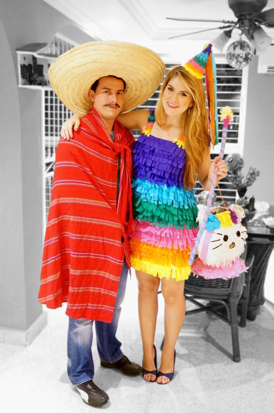 Couple Halloween Costumes -- Piñata and Mexican !