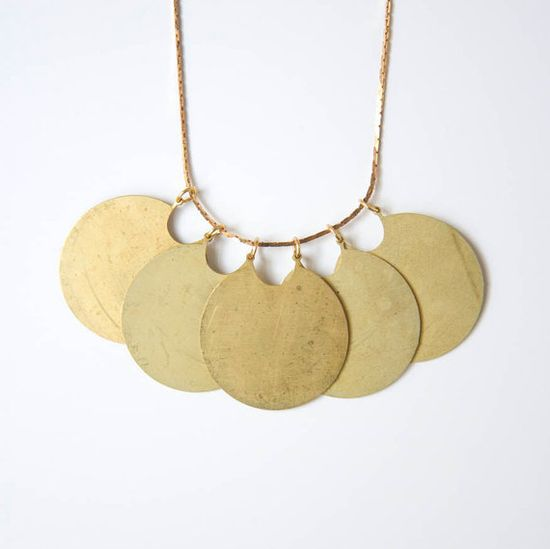 Myrtle // eco friendly handmade brass necklace