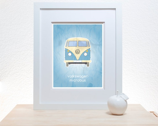 Volkswagen Minibus  11x14 Print by noodlehug on Etsy, $27.00