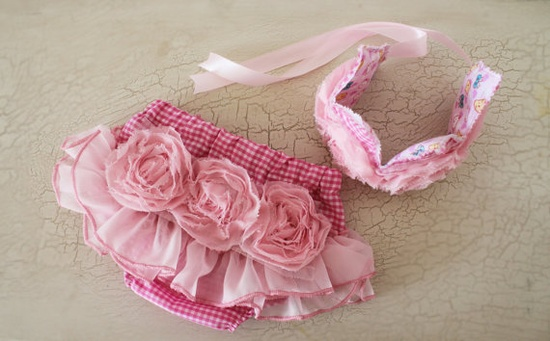 Valentines day pink baby bloomers diaper covers  by bonbonLand, $39.50