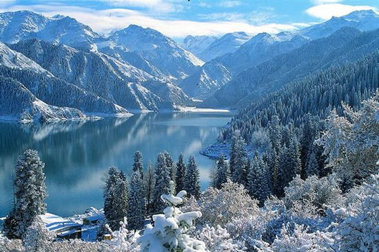 Beautiful scenic view of winter