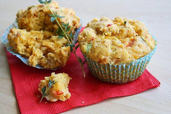 Savory Breakfast Muffins~