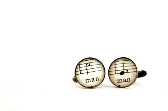 Two groom same sex wedding cuff links by GildedNotes