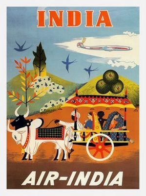 Travel Poster for India #vintage #travel #poster