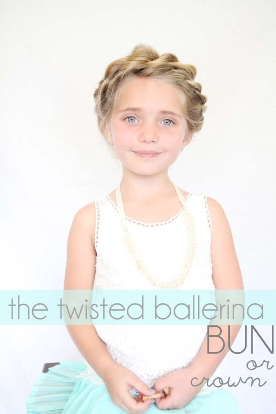 twisted crown / ballerina bun tutorial for little girls