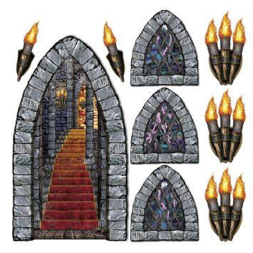 Amazon.com: Stairway, Window & Torch Props Party Accessory (1 count) (9/Pkg): Kitchen & Dining