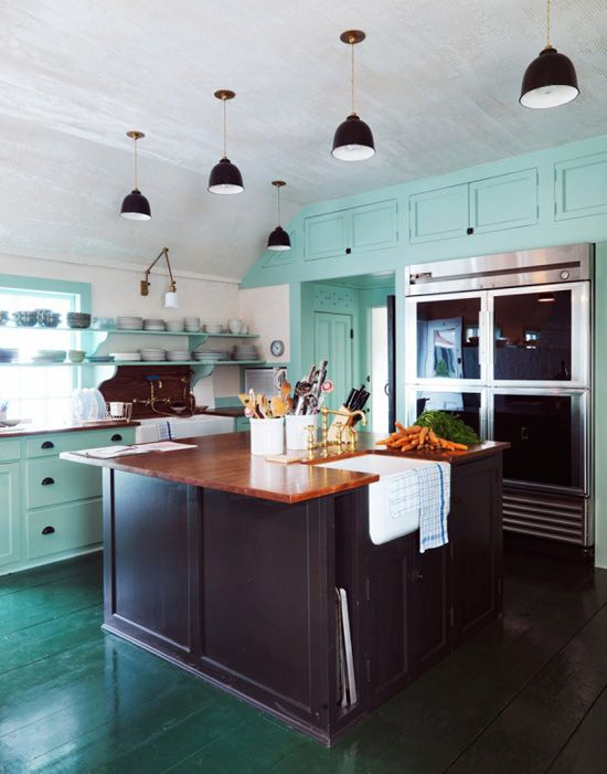 modern mint kitchen