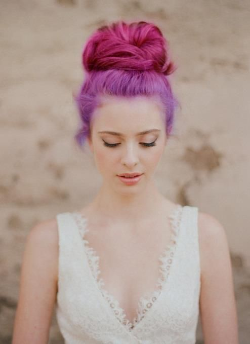#dyedhair #purple #pink #bun #updo #hairstyle #inspiration #standout #beauty #hairideas
