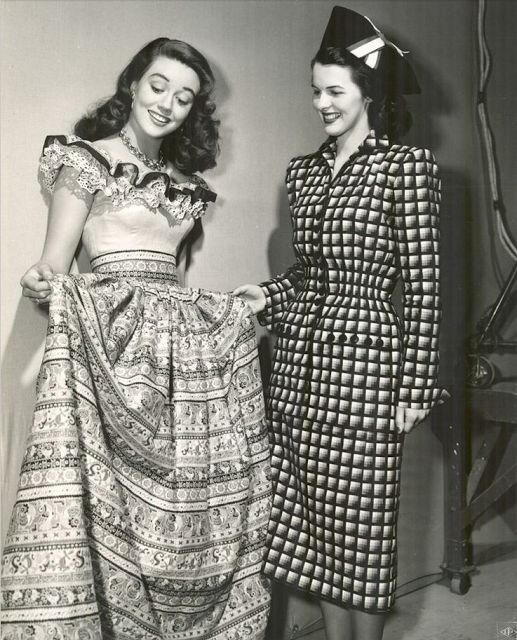 Ruffles Across the Eras ~ 1940s #vintage #fashion #1940s #dress #ruffle