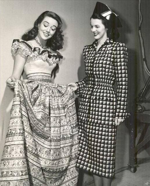 Ruffles Across the Eras ~ 1940s #vintage #fashion #1940s #dress #ruffle
