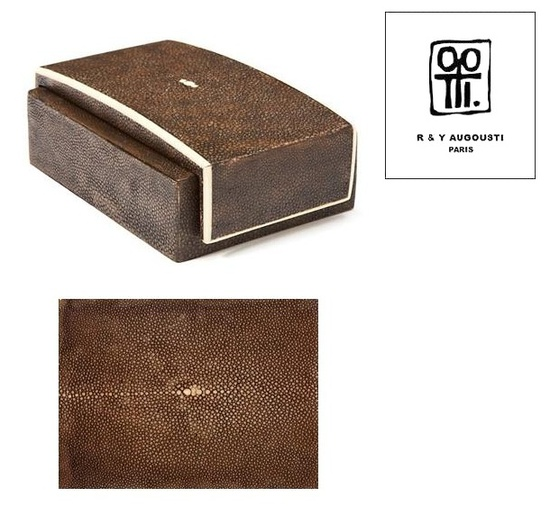 InStyle-Decor.com Beverly Hills Luxe R & Y Augousti Paris Brown Shagreen Box Inspiring Interior Design Fans With Beautiful Home Decor Ideas From Hollywood Enjoy & Happy Pinning