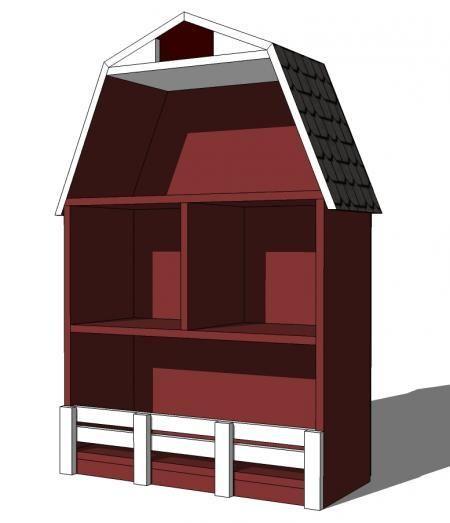 DIY Furniture : DIY Barn Bookshelf