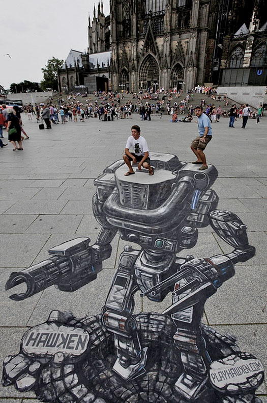 Hawken 3D Street Art at Gamescom by Joe Hill.