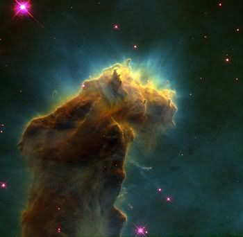 Taken with the Hubble, star birth clouds
