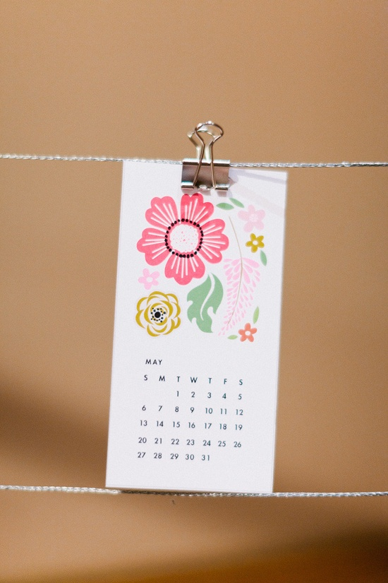 DIY Calendars made by bride as favors.  Photography by valophotography.com