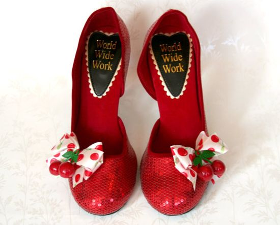 cherry sparkle shoes