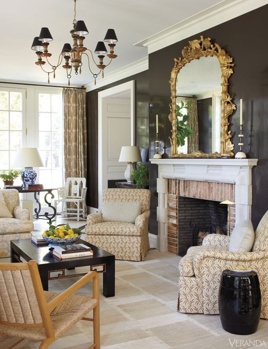 Classical Rigor/love the rich wall color