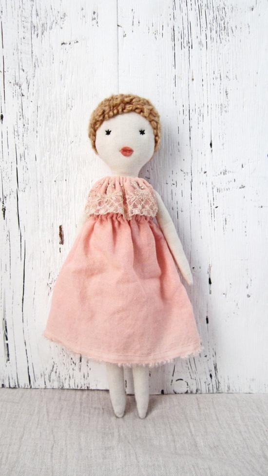 Soft doll, Rag doll, handmade, one of a kind, Judith. $80.00, via Etsy.