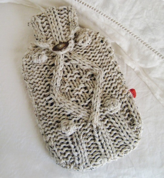 Feeling under the weather? This tactile, wool-blend hot-water bottle cover is sure to chase away chills. #countryliving