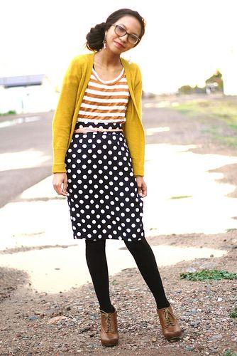Stripes and polka dots -