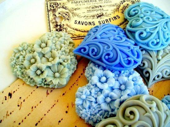 filigree heart soaps. pretty.