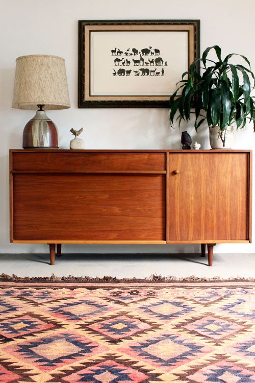 Love this sideboard and rug...