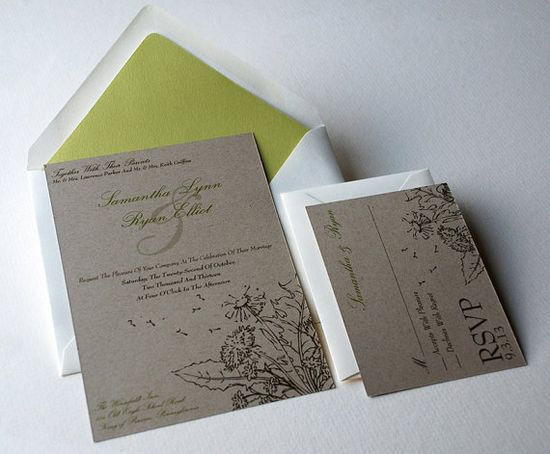 The Willow Collection  Rustic Woodland  Kraft by OliveandRuby, $3.50