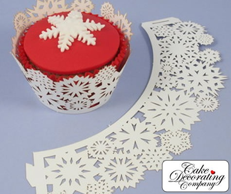 Snowflake Wrapper Red  #wedding cupcakes ... Wedding ideas for brides, grooms, parents & planners ... itunes.apple.com/... … plus how to organise an entire wedding ? The Gold Wedding Planner iPhone App ?