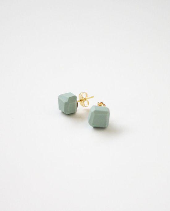 Pale Blue Geo Earrings.