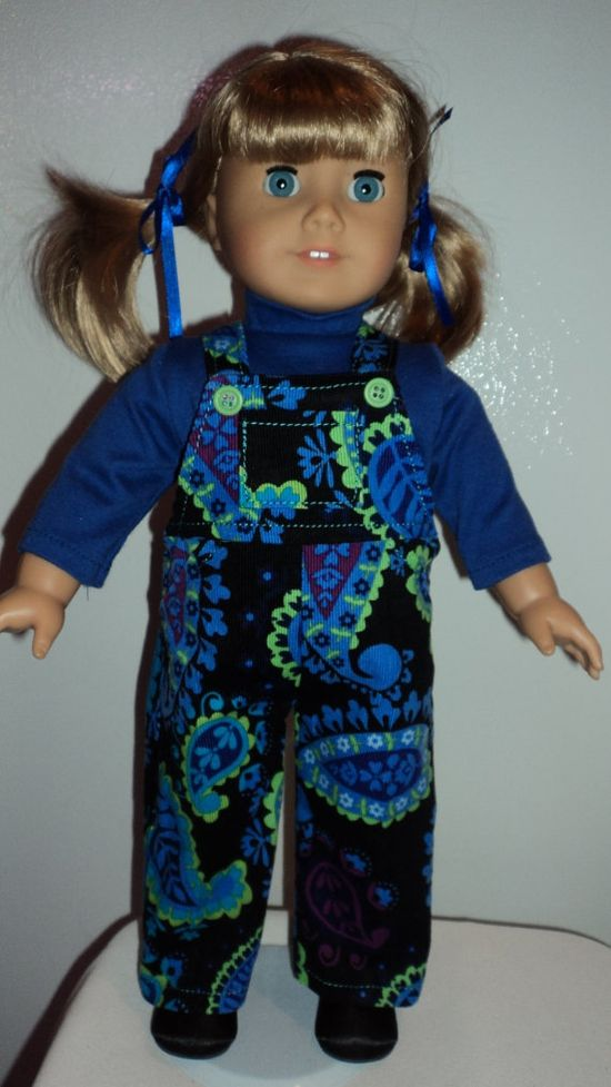 American Girl Doll Clothes  Bibs and Turtleneck by susiestitchit, $18.00