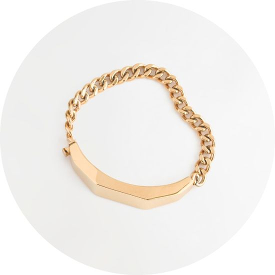 Madewell sculpture ID bracelet.