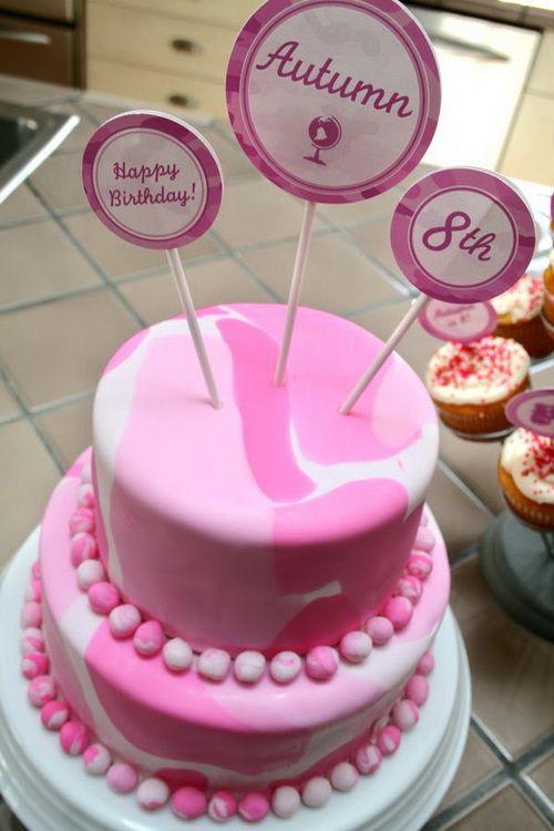 camo pink wedding cake