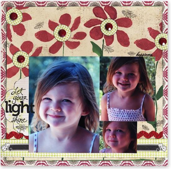 Let your Light Shine - Scrapbook.com - #scrapbooking #layouts