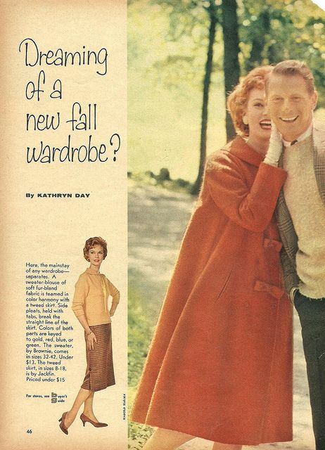 Are you dreaming of a new fall wardrobe? #vintage #1950s #fashion